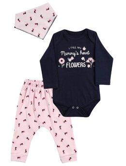 Costumas FLOWERS roz pal