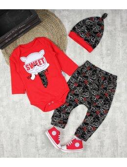 Costumas sweet baby cat rosu + INCALTAMINTE