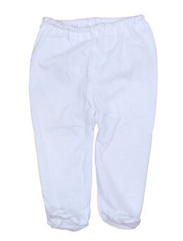 Pantaloni cu botosei albi