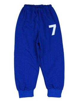 Pantaloni de trening albastrii cu cifre