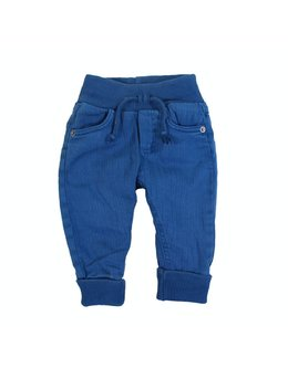 Pantaloni turcoaz cu elastic in talie