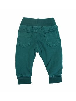 Pantaloni verzi cu elastic in talie