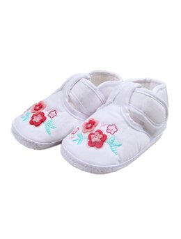 Pantofiori floricele alb