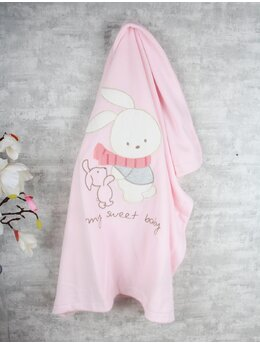Paturica pufoasa polar iepuras roz