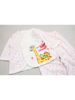 Pijama girafa roz