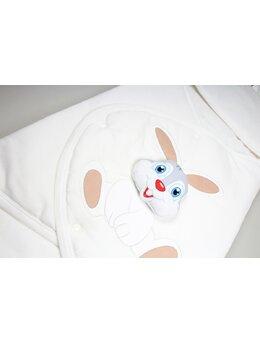 Port bebe iepuras alb