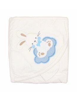 Prosop baie alb iepuras bleu
