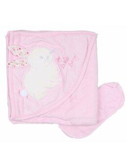 Prosop baie iepuras baby roz