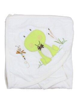 Prosop bebelusi alb broscuta verde