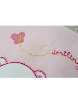Sac de dormit catifea roz A1902