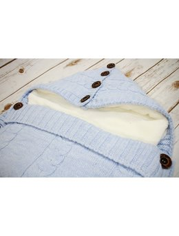Sac de dormit pentru exterior culoare bleu