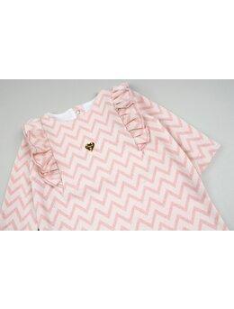 Salopeta baby girl eleganta roz