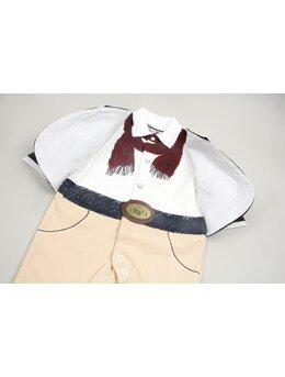 Salopeta fashion BBX cu jacheta model crem