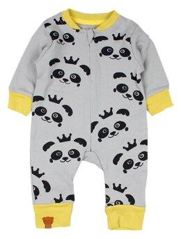 Salopeta panda gri-galben