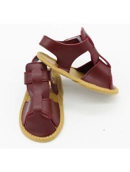 Sandale baietei bordo