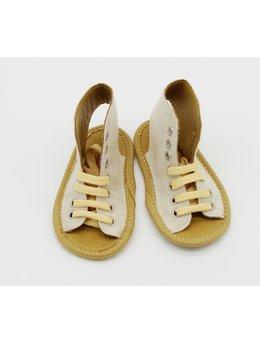 Sandale bej deschis cu siret
