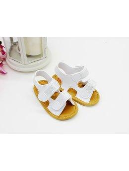 Sandale cu scipici alb