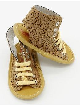 Sandale maro cu picatele