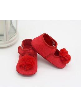 Sandale rosii cu ciucuras