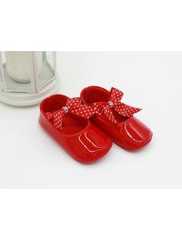 Sandale rosii cu fundita