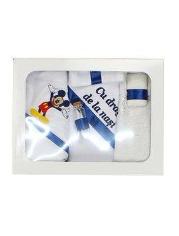 Trusou botez 6 piese bleumarin A1801