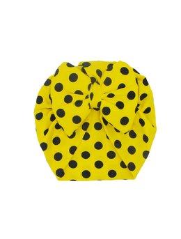 Turban galben cu bulinute negre 3-9 luni