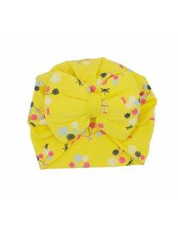 Turban galben cu floricele 3-9 luni