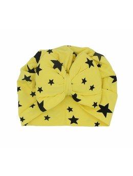 Turban galben cu stele bebe 46