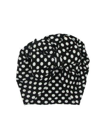 Turban negru cu buline mari model 61