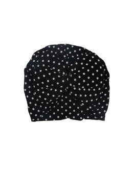 Turban negru cu bulinute 3-9 luni