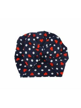Turban negru cu inimioare 3-9 luni