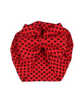 Turban rosu cu inimioare model 38