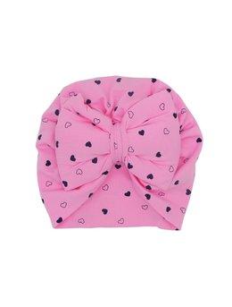 Turban roz cu inimioare 3-9 luni