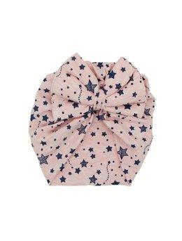 Turban roz cu stelute sclipici model 48