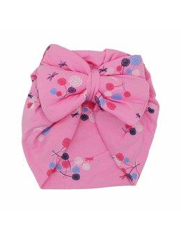 Turban roz floricele model 36