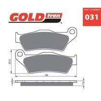 Placute frana fata 031 K5-LX GOLDFREN