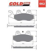 Placute frana spate 002 K1 GOLDFREN