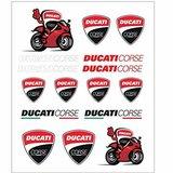 Set stickere big Ducati Corse