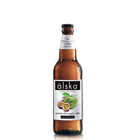 Cidru cu fructul pasiunii si mere Alska  0.5 l