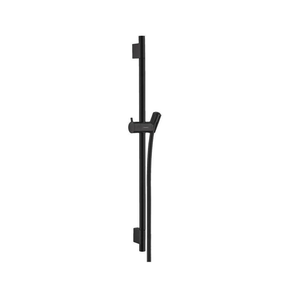 Bara cu furtun de dus Hansgrohe Unica S Puro negru mat imagine