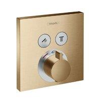 Baterie dus termostatata Hansgrohe ShowerSelect bronz periat incastrata