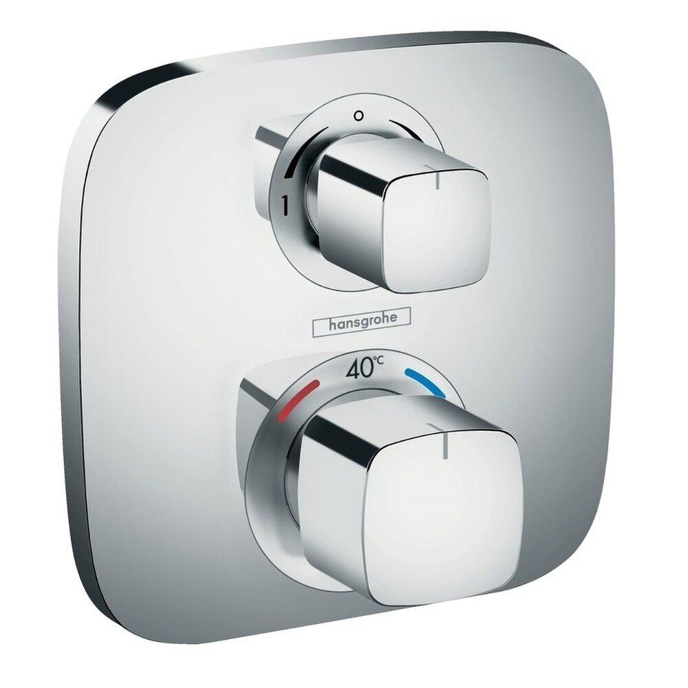 Baterie dus termostatica Hansgrohe Ecostat E incastrata poza
