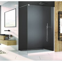 Cabina de dus Walk-In SanSwiss Easy STR4P 80 cm sticla securizata 8mm anticalcar