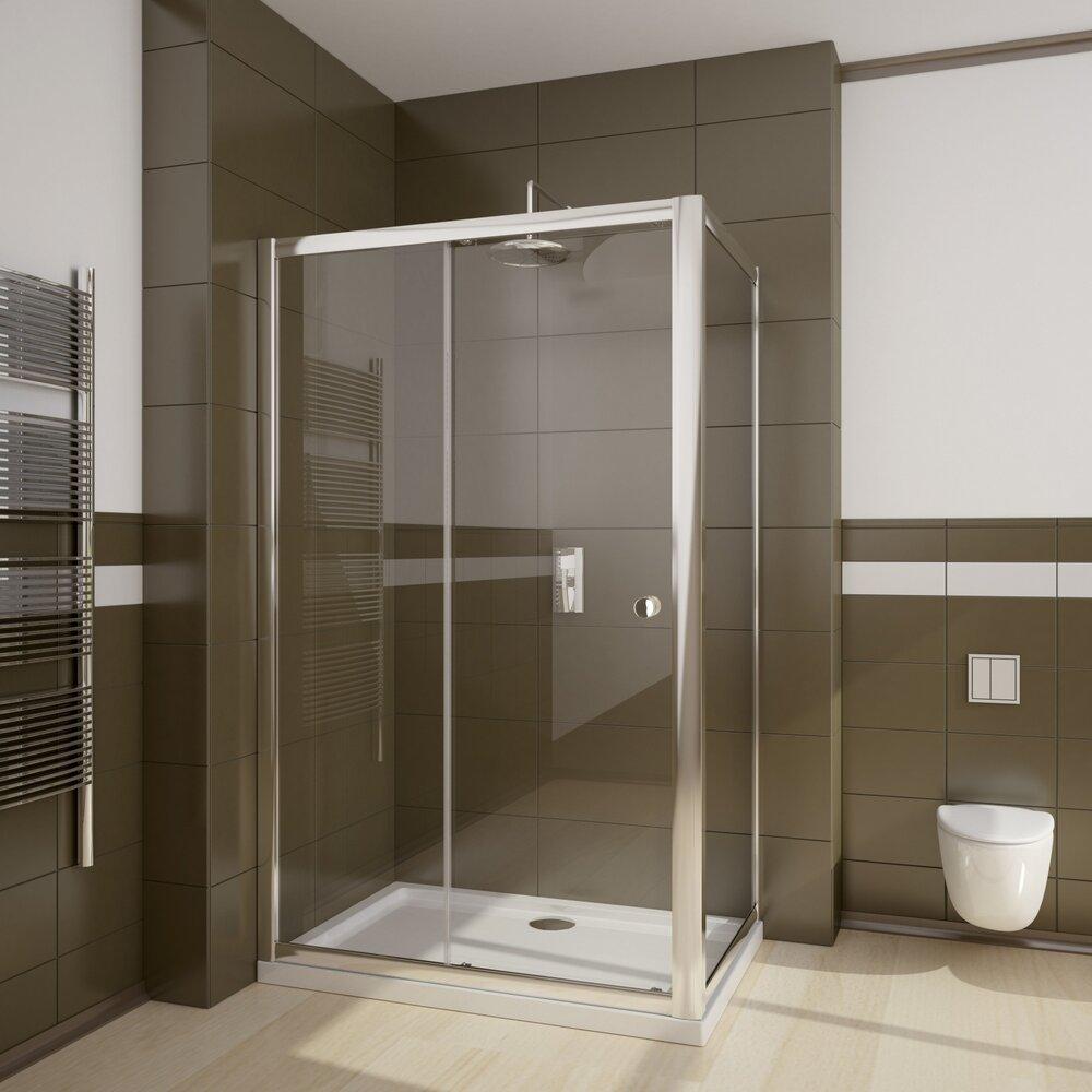 Set cabina de dus Radaway Premium dreptunghiulara 100x80 cu cadita si sifon imagine neakaisa.ro