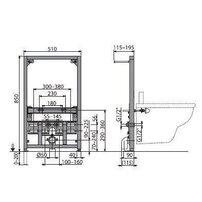Cadru bideu cu inaltime de instalare 0,85m Alcaplast A105/850