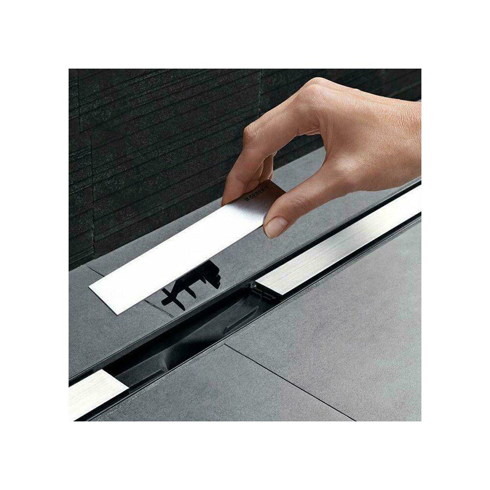 Capac pentru rigola de dus Geberit CleanLine20 30-90 cm metal lucios poza
