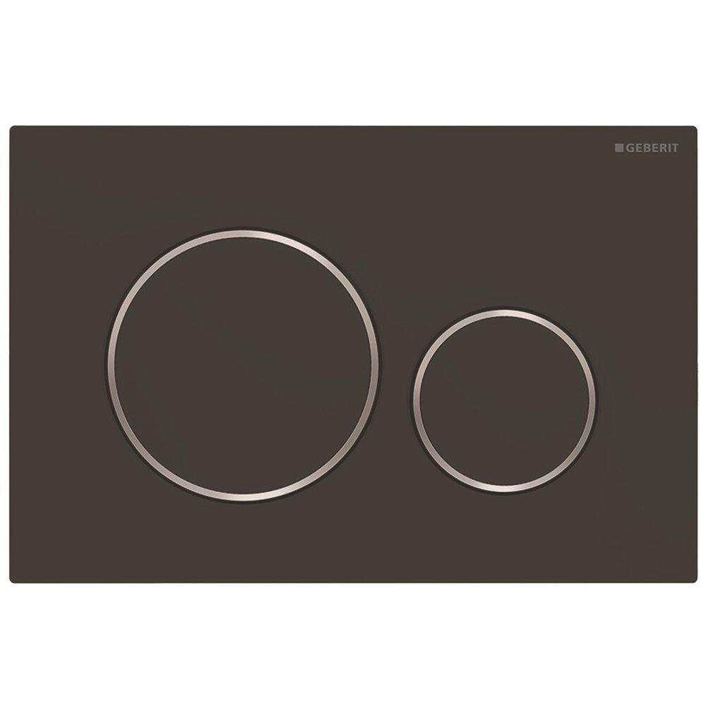 Clapeta de actionare Geberit Sigma 20 negru mat crom lucios EasyToClean