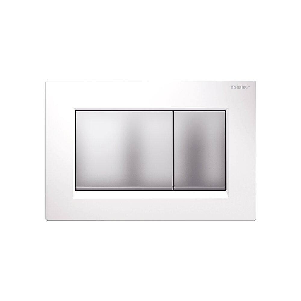 Clapeta de actionare Geberit Sigma 30 alb crom mat imagine
