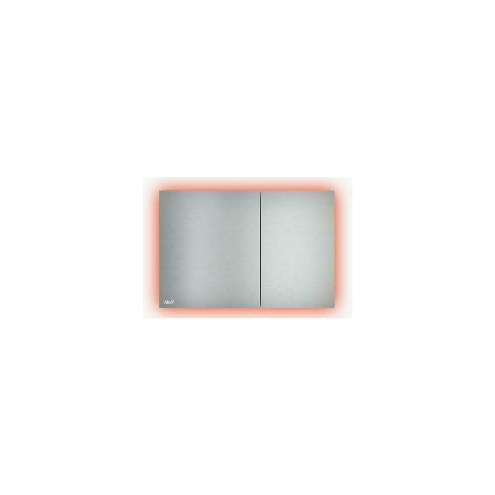 Clapeta de actionare Alcaplast Air Light AEZ114 cu iluminare rainbow inox mat imagine