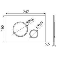 Clapeta de actionare Alcaplast M771 crom lucios/cromat-mat